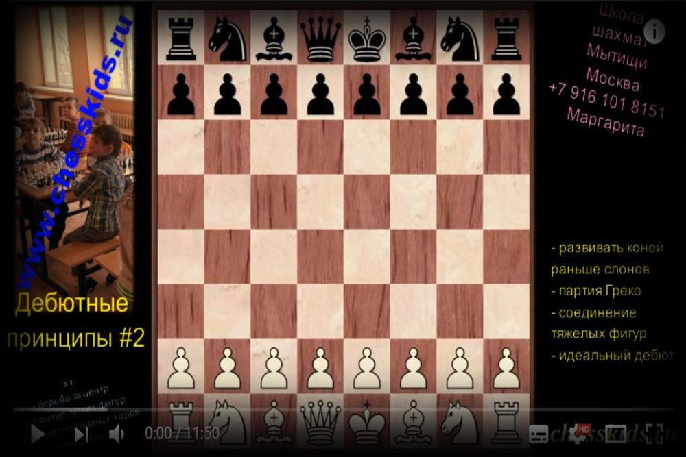 Видеоуроки основ шахматной игры